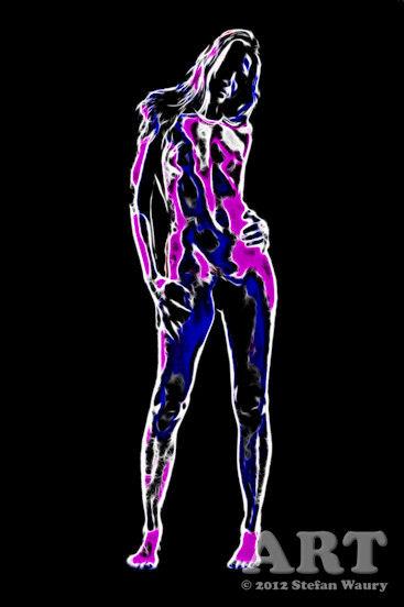 Kunst-Aktfoto: Die stehende Frau